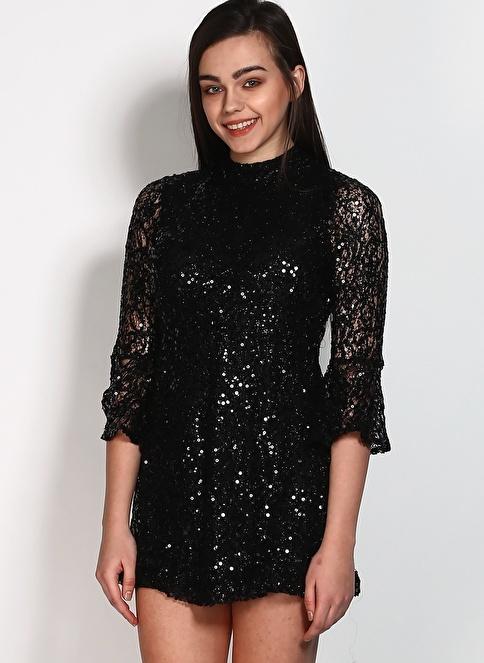 Motel Rocks Mini Abiye Elbise Siyah